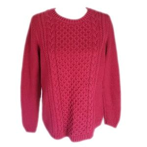 Talbots Cable Knit Cotton Sweater M